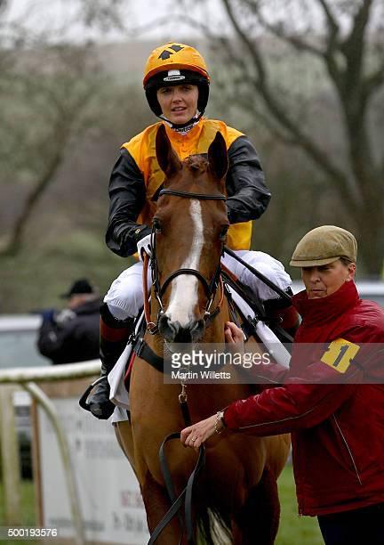Victoria Pendleton riding horse According to Sarah prior to racing at Barbury Racecourse on December 6 2015 in Barbury England
