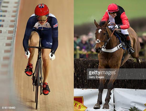 PHOTO Image Numbers 149538692 and 507770940 In this composite image a comparison has been made between Victoria Pendleton as a olympic cyclist and as...