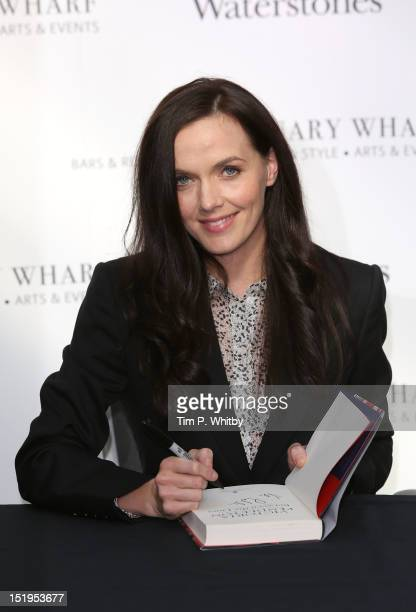 Victoria Pendleton signs copies of her autobiography 'Between The Lines' at Waterstones Canary Wharf on September 13 2012 in London England