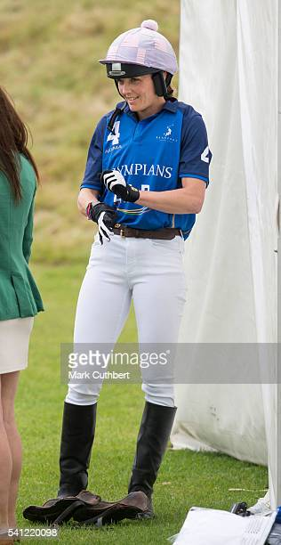 Victoria Pendleton takes part in the Gloucestershire Festival of Polo at Beaufort Polo Club on June 19 2016 in Tetbury England
