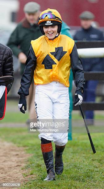 Victoria Pendleton walks back to the weighing room after riding 'According to Sarah' in the Ladies Open during the Barbury Castle Point to Point at...