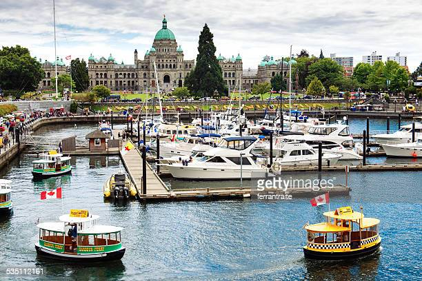 victoria port in vancouver island canada - victoria canada stock photos and pictures