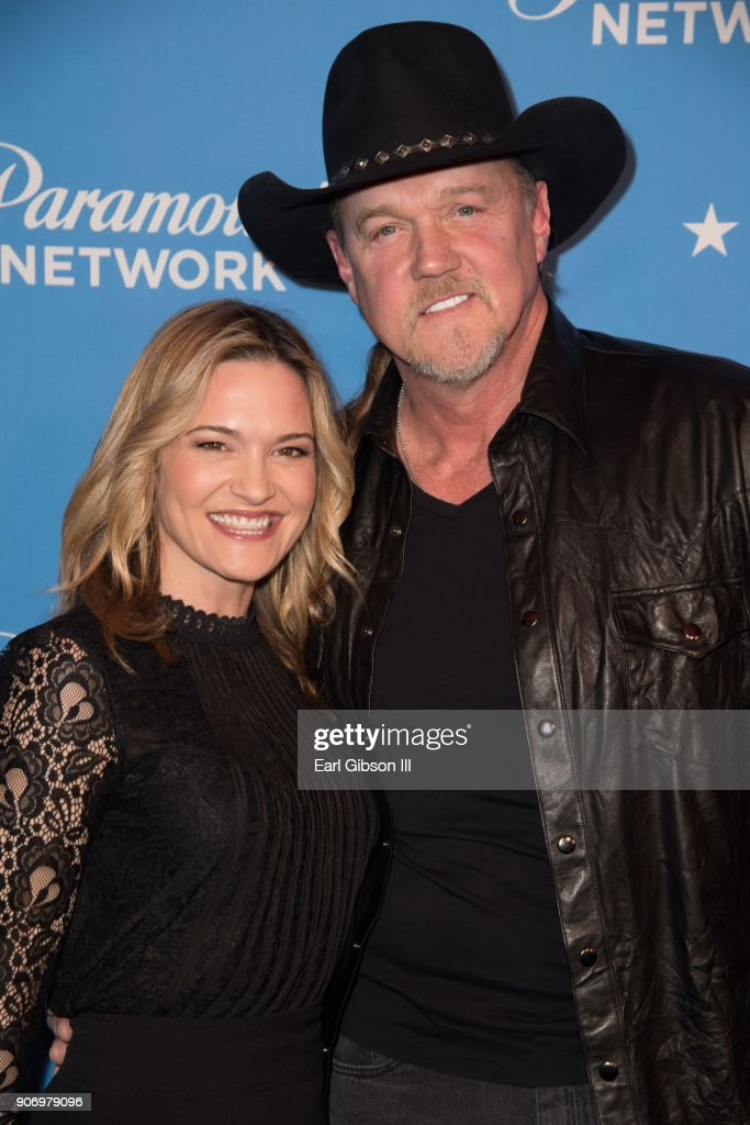 Victoria Pratt and Trace Adkins attend Paramount Network Launch Party at Sunset Tower on January 18, 2018 in Los Angeles, California.