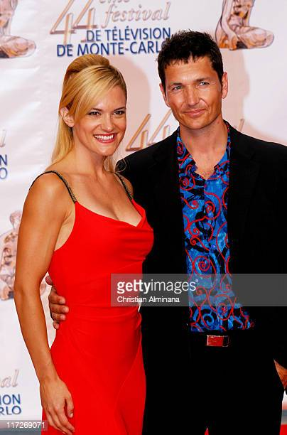 Victoria Pratt and Vince Van Patten during 44th Monte Carlo Television Festival Beach Club Party Arrivals at Monte Carlo Beach Hotel in Monte Carlo...