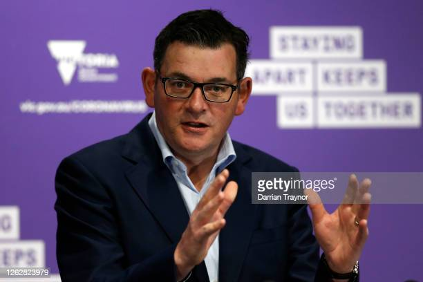 Victoria Premier Daniel Andrews addresses the media at the daily briefing on July 31, 2020 in Melbourne, Australia. Victoria recorded 627 new...