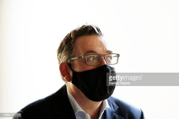 Victoria Premier Daniel Andrews leaves the daily briefing on August 31, 2020 in Melbourne, Australia. Victoria has recorded 73 new COVID-19 cases in...