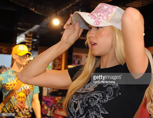 Victoria Prince girlfriend of Kevin Federline exhusband of Britney Spears makes an instore appearance at Ed Hardy Edward Street on November 26 2009...