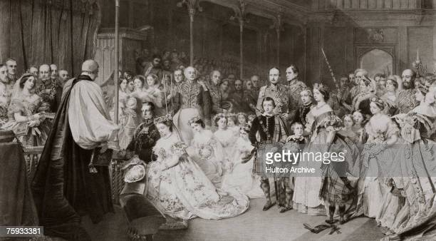 Victoria, Princess Royal , eldest daughter of Queen Victoria, marries Crown Prince Frederick of Prussia in the Chapel of St. James Palace, London,...