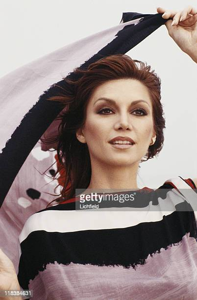 Victoria Principal American actress best known for her role in 'Dallas' on the beach at Malibu California USA 8th October 1980