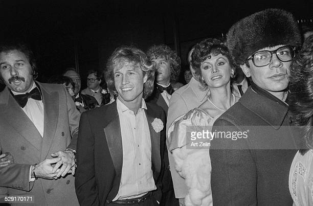 Victoria Principal and Andy Gibb at disco Xenon circa 1970 New York