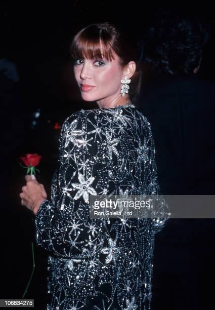 Victoria Principal during Victoria Principal sighting at the Beverly Hills Hotel for the 'Dallas' Cast Party November 3 1985 at Beverly Hills Hotel...