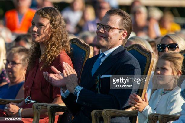Victoria Prize winner Hanna Oberg the 2019 World Champion in Biathlon attends The Crown Princess Victoria of Sweden's 42nd birthday celebrations on...
