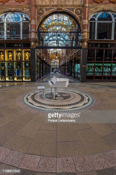 victoria quarter in leeds, united kingdom - leeds city centre stock photos and pictures