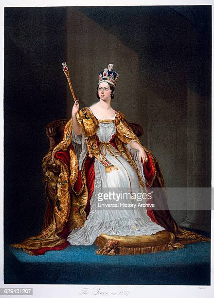 Victoria Queen of Great Britain 18371901 Portrait Painting 1837