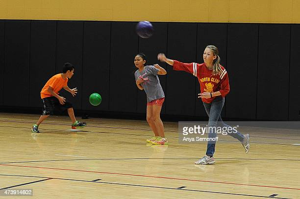 Victoria Quintana right throws a ball during a dodgeball tournament at Northglenn Recreation Center on May 8 in Northglenn Colorado The Northglenn...