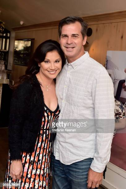 Victoria Recno and Tom Burwell attend Jessica Biel and Dr Harvey Karp Celebrate Moms Dads and their Favorite Helper the SNOO at Au Fudge Los Angeles...