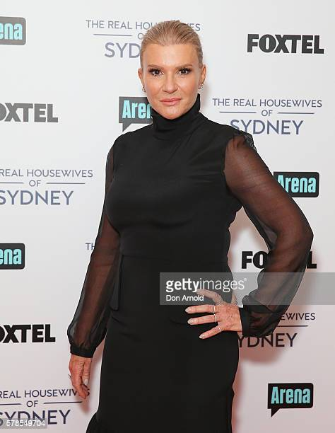 Victoria Rees poses during a media call to announce the cast of The Real Housewives of Sydney at the Park Hyatt on July 22 2016 in Sydney Australia