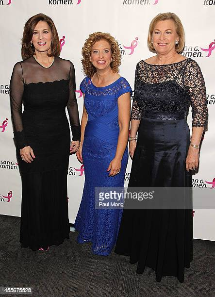 Victoria Reggie Kennedy US Rep Debbie Wasserman Schultz and Susan Ford Bales attend the 2014 Susan G Komen Honoring The Promise Gala at John F...