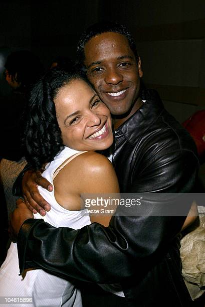 Victoria Rowell and Blair Underwood during Discovered Voices - An Evening of Readings From Scenes of New Plays at The Skirball Cultural Center and...