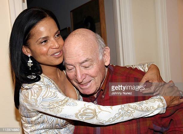 Victoria Rowell and George Wein during Victoria Rowell Private Launch of Her Book The Women Who Raised Me Hosted by George Wein at Home of George...