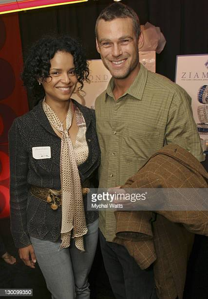Victoria Rowell and Grayson McCouch during 32nd Annual Daytime Emmy Awards On 3 Productions Gift Suite Day 2 at Radio City Music Hall in New York New...