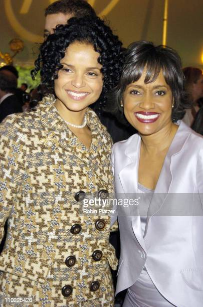 Victoria Rowell and Judge Glenda Hatchett during New York City Hosts Reception in Honor of 32nd Annual Daytime Emmy Awards at Gracie Mansion in New...