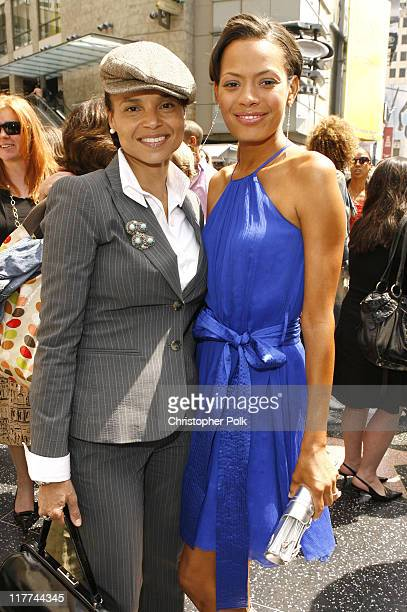 Victoria Rowell and Keisha Whitaker during Forest Whitaker Honored with a Star on the Hollywood Walk of Fame in Hollywood California United States