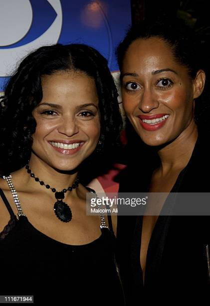 Victoria Rowell and Tracee Ellis Ross during Sunset Room at 35th NAACP Image Awards Cocktail Reception in Hollywood California United States
