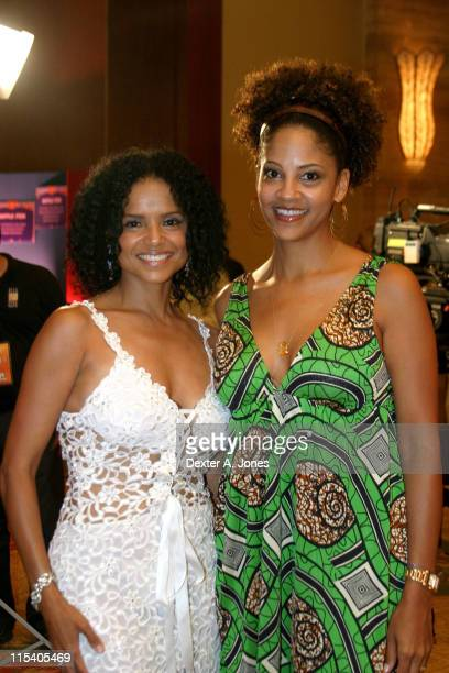 Victoria Rowell and Tracey Mourning during ZSG Gala Dinner and Auction July 17 2005 at American Airlines Arena in Miami Florida United States