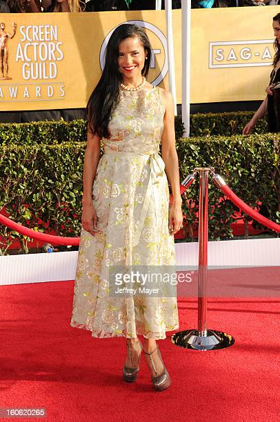 Victoria Rowell arrives at the 19th Annual Screen Actors Guild Awards at the Shrine Auditorium on January 27 2013 in Los Angeles California