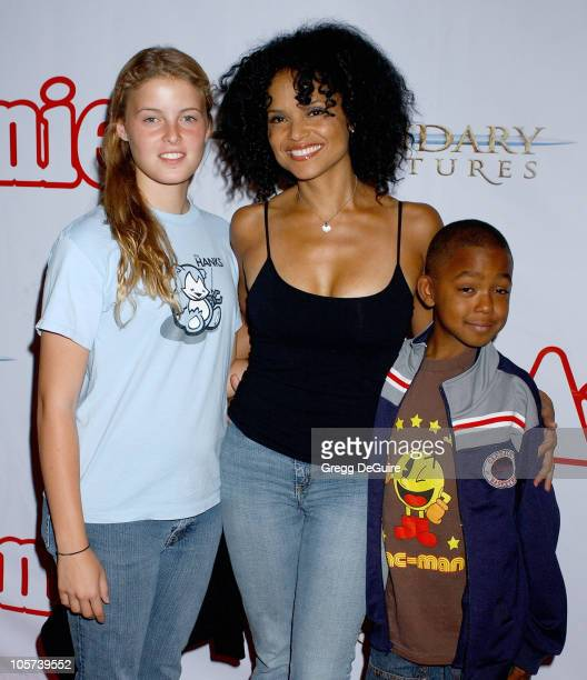 Victoria Rowell daughter Maya and son Jasper during Annie Opening Night to Benefit CASA of Los Angeles Arrivals at Pantages Theatre in Hollywood...