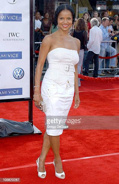 Victoria Rowell during Miami Vice Los Angeles Premiere Arrivals at Mann Village in Westwood California United States