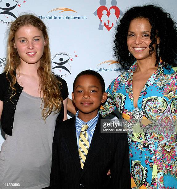 Victoria Rowell with her son Jasper and daughter Maya