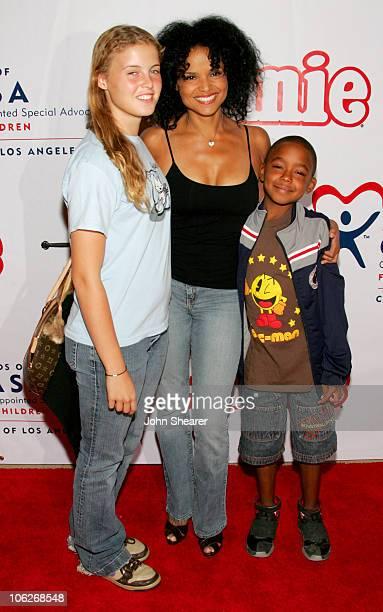 Victoria Rowell with Maya and Jasper during Annie Opening Night to Benefit CASA of Los Angeles Arrivals at Pantages Theatre in Hollywood California...