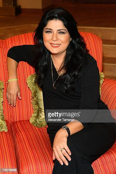 Victoria Ruffo appears on the new set of Escandalo TV for their 5th Anniversay episode on January 22 2007 in Miami Florida