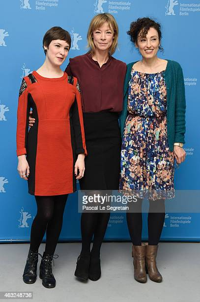 Victoria Schulz Jenny Schily and Stina Werenfels attend the 'Dora or The Sexual Neuroses of Our Parents' photocall during the 65th Berlinale...