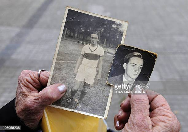 ALVAREZ Victoria Schwindt shows pictures of her brother Carlos Omar Schwindt who was kidnapped and disappeared together with his wife in 1976 in La...
