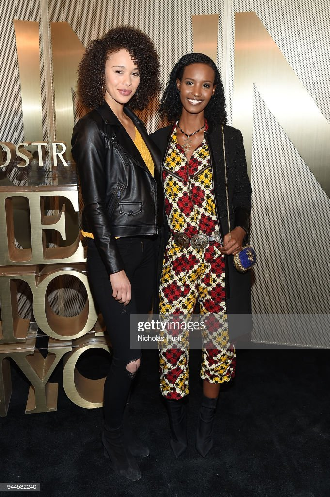 Victoria Seabrooks and Fatima Siad attends the Nordstrom Men's NYC Store Opening on April 10, 2018 in New York City.