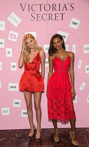 7bbbb2ce96 Victoria Secret Angels Elsa Hosk (L) and Jasmine Tookes attend the Gift  Picks and