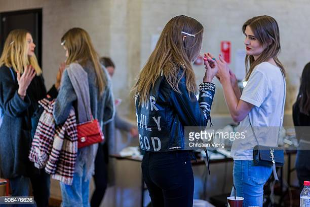 Victoria Secrets model Josephine Skriver is seen backstage ahead of the By Malene Birger show during the Copenhagen Fashion Week Autumn/Winter 2016...