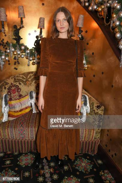 Victoria Sekrier attends the Nick Cave The Bad Seeds x The Vampires Wife x Matchesfashioncom party at Loulou's on November 22 2017 in London England