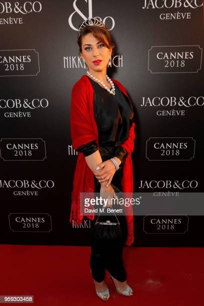 Victoria Shamis attends the Jacob Co Cannes 2018 party at Nikki Beach on May 16 2018 in Cannes France