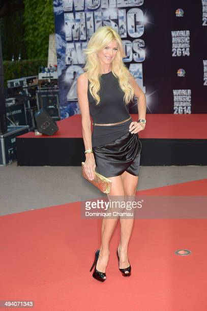 Victoria Silvested arrives World Music Awawards 2014 at Sporting MonteCarlo on May 27 2014 in MonteCarlo Monaco