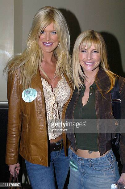 Victoria Silvstedt and Brande Roderick during The 46th Annual Grammy Awards Westwood One Backstage at the Grammys Day 1 at Staples Center in Los...