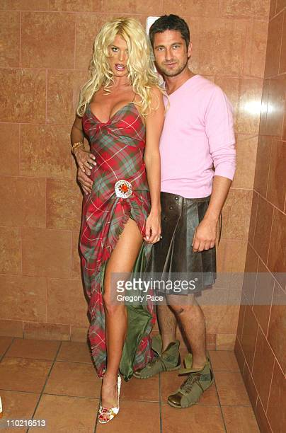 Victoria Silvstedt and Gerard Butler during 'Dressed to Kilt' A Scottish Evening of Fashion and Fun Arrivals and Backstage at Copacabana in New York...