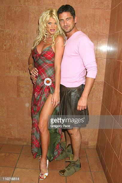 Victoria Silvstedt and Gerard Butler during Dressed to Kilt A Scottish Evening of Fashion and Fun Arrivals and Backstage at Copacabana in New York...