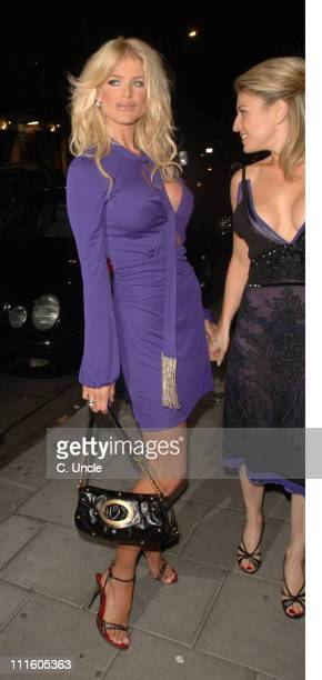 Victoria Silvstedt and Hofit Golan during Victoria Silvstedt Birthday Party - September 20, 2006 at Cipriani Restaurant in London, Great Britain.