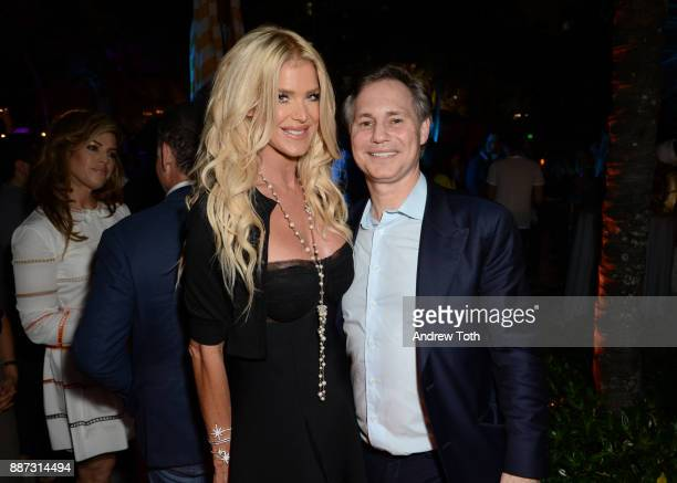Victoria Silvstedt and Jason Binn attend DuJour's Jason Binn And WellNEST Celebrate Miami Beach's Art Basel KickOff at The Confidante on December 6...