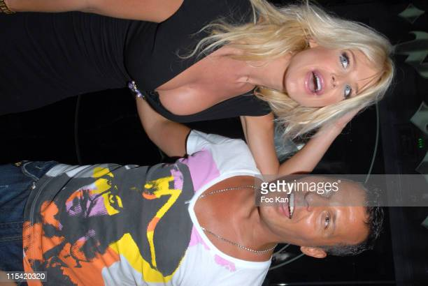 Victoria Silvstedt and Jean Roch during Stephen Dorff Birthday at the Swedish Party at VIP Room in St Tropez France