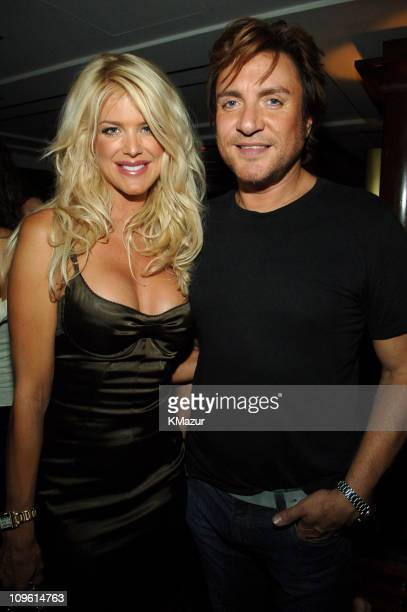 Victoria Silvstedt and Simon Le Bon of Duran Duran during 2005 Fashion Rocks Rainbow Room After Party at Rainbow Room in New York City New York...